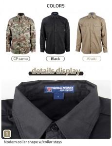 Black tactical long  sleeve shirt