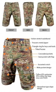 Multicam tactical short pants