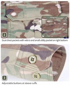 Multicam tactical long sleeve shirt