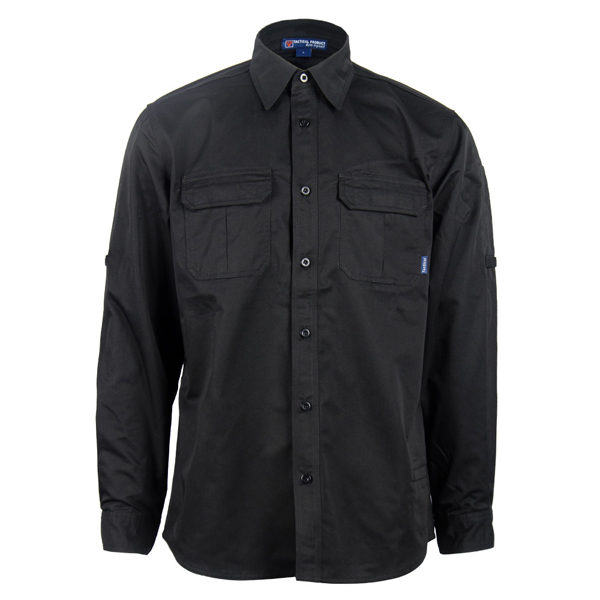 Black tactical long  sleeve shirt Featured Image