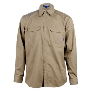 Khaki tactical long sleeve shirt