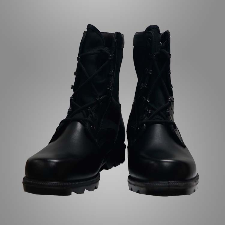 Military black leather boots Featured Image