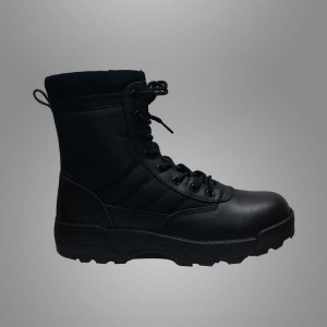 Army tactical leather combat boots
