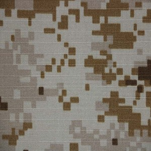 Nylon cotton desert camouflage fabric for Saudi arabian army