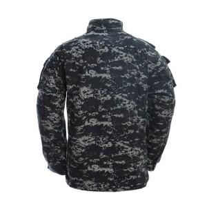 Dark blue ACU military uniform
