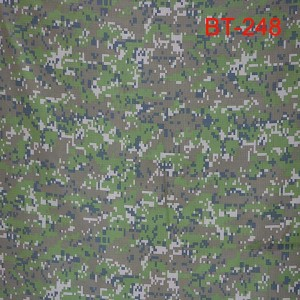 Anti-infrared digital camouflage fabric for Czech military