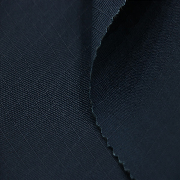 Dark navy blue ripstop security guard fabric for police uniform Featured Image