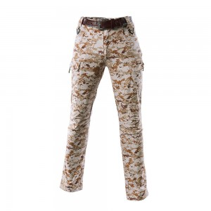 Digital desert camo tactical uniform pants