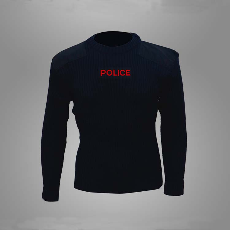 Wool polyester dark navy blue police combat pullover Featured Image