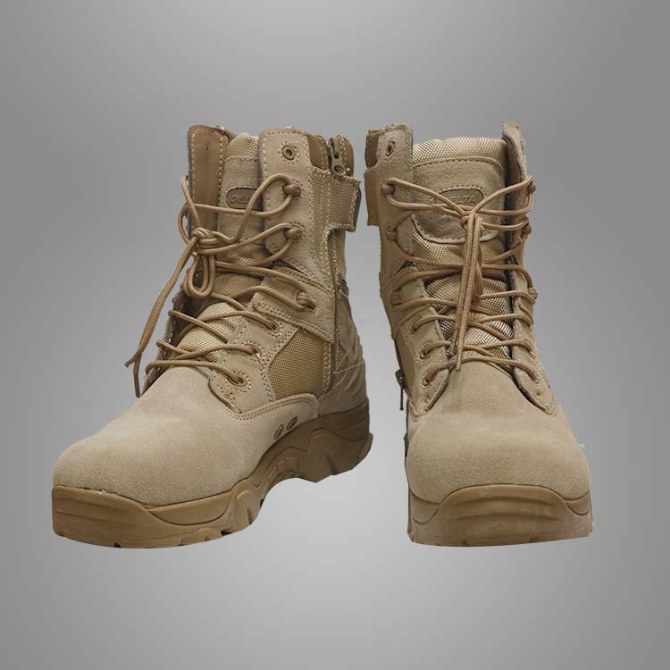 Desert military tactical leather combat boots Featured Image