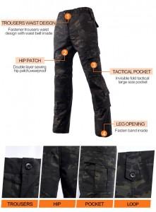 Multicam black uniform