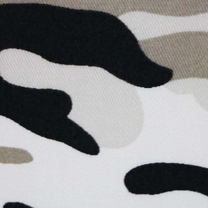 Snow white camouflage fabric
