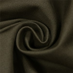 Olive green herringbone uniform fabric for making uniforms