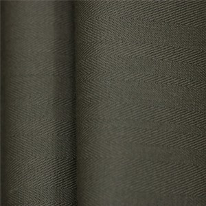 Olive green herringbone uniform fabric for making uniforms