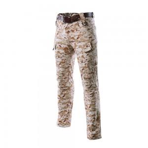 Cyfrowy pustynny camo jednolite spodnie taktyczne