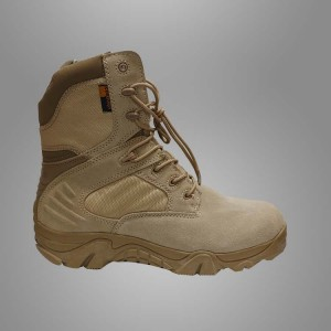 Desert military tactical leather combat boots