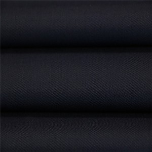 45%Wool 55%Polyester black serge military office uniform fabric