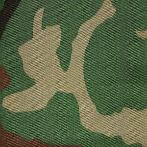 US army style woodland camouflage fabric