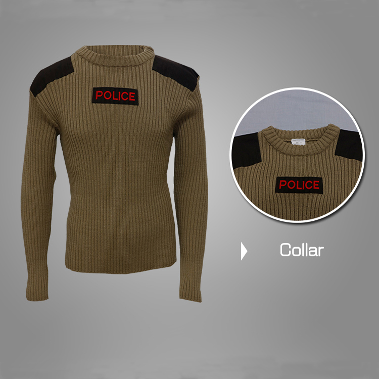 Wool acrylic khaki desert police tactical pullover Featured Image