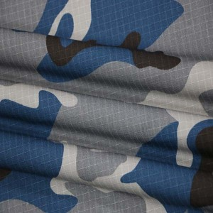 Blue camouflage fabric for Nepal police