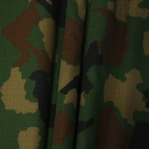 Indian army military woodland ripstop camouflage fabric