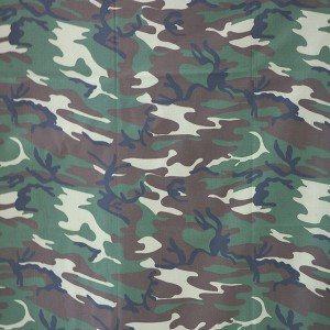 Waterproof camouflage fabric for woodland camouflage fabric