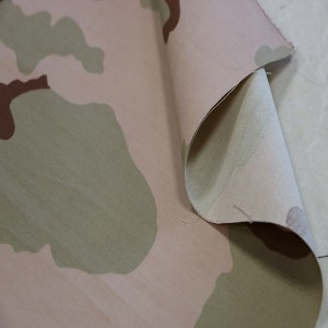 3 Color desert military camo material of Herringbone fabric