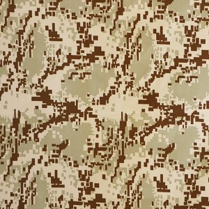 Digital desert camouflage fabric for twill fabric