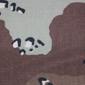 Custom Nylon Cotton printed desert camouflage fabric sateen fabric