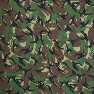 Printing woven camouflage fabric for military uniform