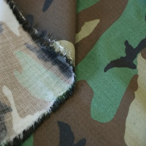 Outdoor training printing camouflage fabric for military uniform
