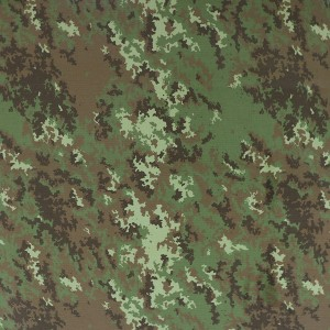 Made in china cheap polyester cotton woodland camouflage fabric