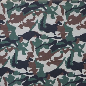 Wholesale Knitting printed single jersey military camouflage fabric