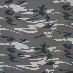 Brushed camouflage fabric for casual wear