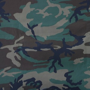China product woven printing woodland camouflage fabric