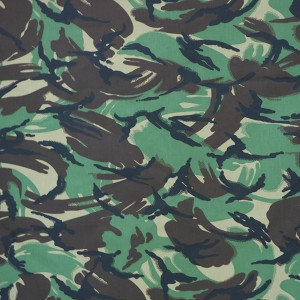 OEM Wholesale woodland camouflage fabric for military uniform