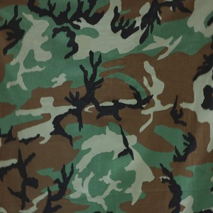 Nylon cotton woodland camouflage uniform fabric