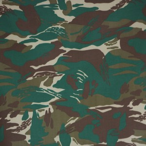 Factory printed military uniform fabric