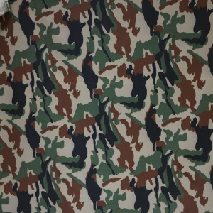 CVC 65/35 twill woodland camouflage fabric for Nepal Army