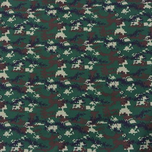 Factory printed military camouflage fabric