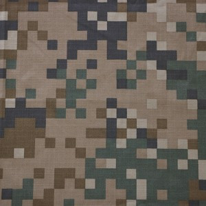 Factory making military uniform camouflage fabric