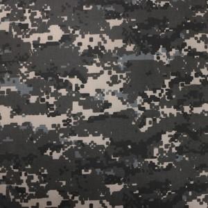 Black digital camo fabric