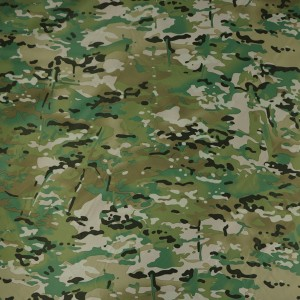 100%Polyester Waterproof Multicam Fabric