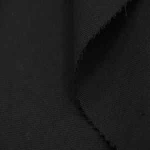 Black wool worsted fabric