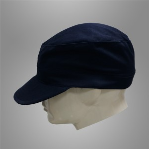 Dark navy blue security guard cap