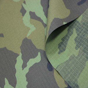 Anti-infrared ripstop camouflage fabric for Czech military