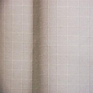 Khaki cotton rip stop fabric
