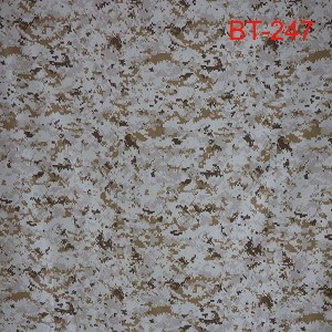 Nylon cotton desert camouflage fabric for Saudi arabian army