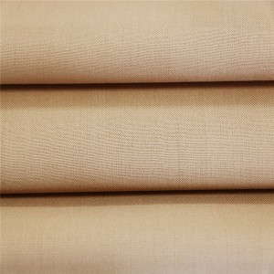30 ull 70 polyester offiser shirting materiale i khaki farge