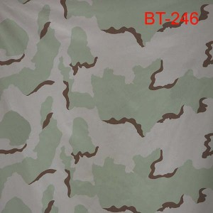 3-Colour desert camouflage fabric